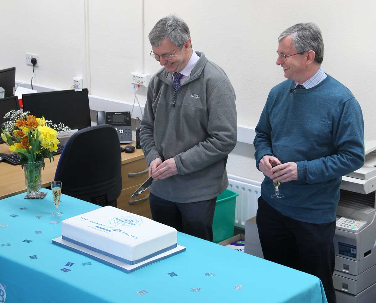David & Charles cut the enormous cake