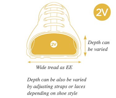 2V Variable Extra Wide Fitting Shoes