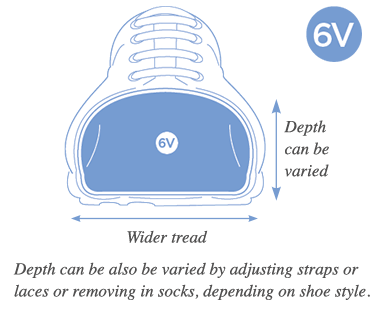 6V Variable Extra Wide Fitting Shoes