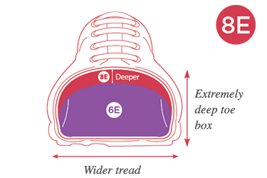 8E Extra Wide Fitting Shoes