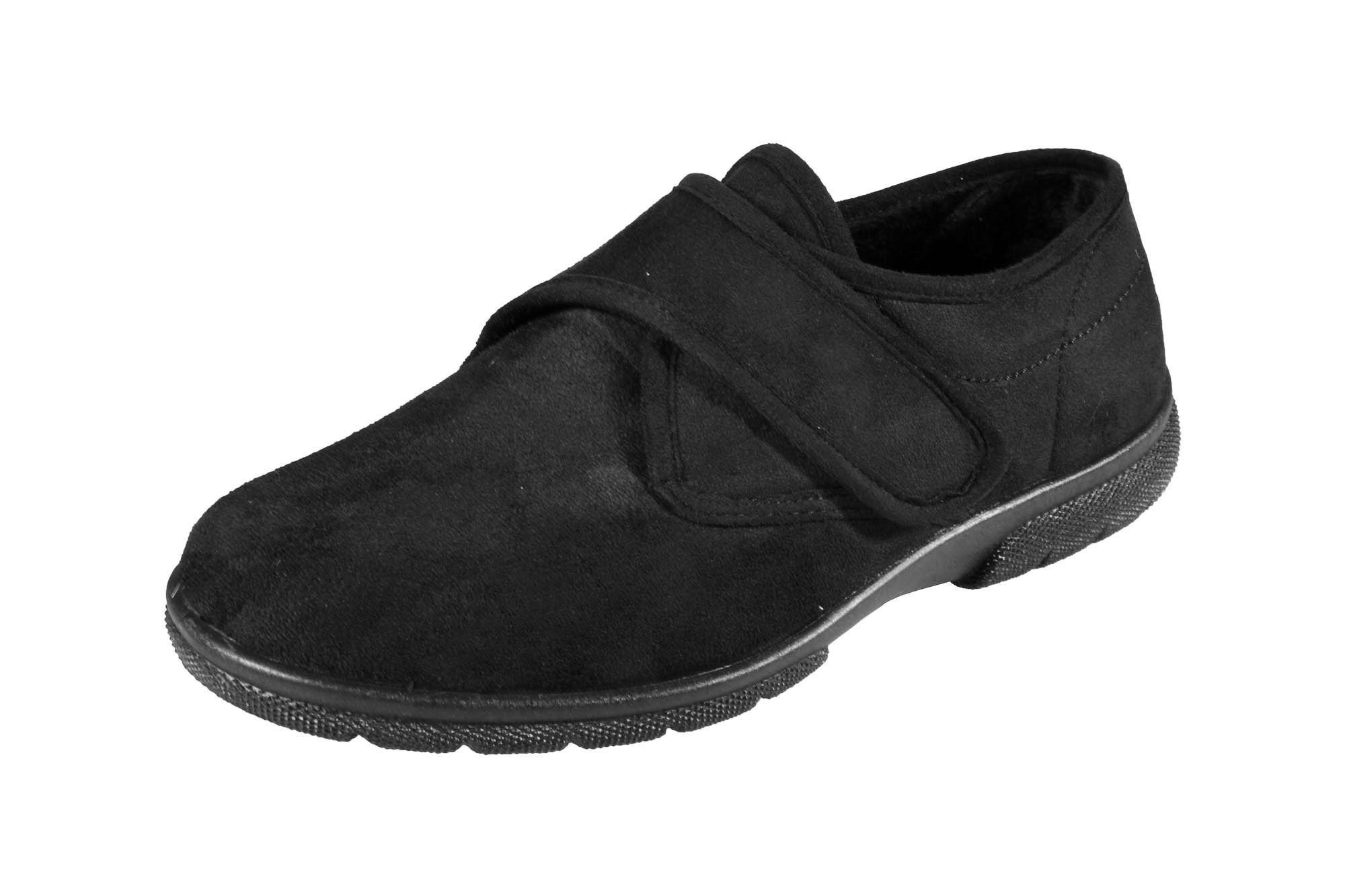 6E New Men/'s Wide Fit DB Shoes Daniel Soft Uppers Velour Slippers Width 4E